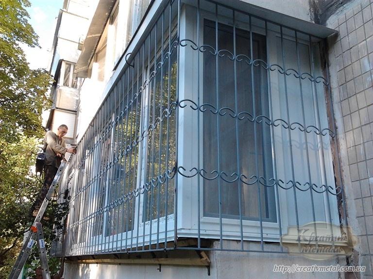 Кованая решетка на балкон free.