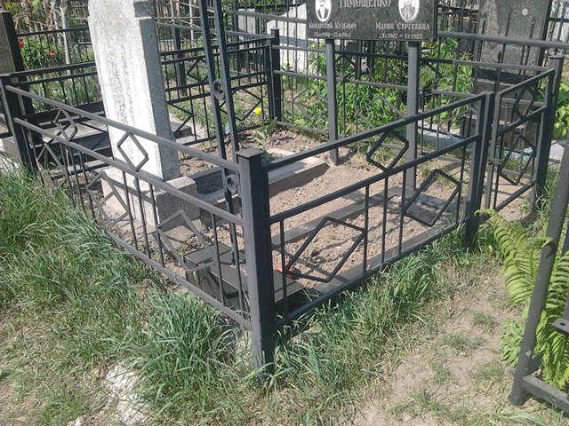 Оградка для могилы своими руками фото